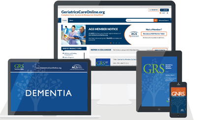 GeriatricsCareOnline - AGS publications, resources, tools
