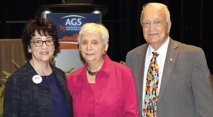 Dr. Debra Saliba, 2017-2018 AGS President, with her mother and father at #AGS17.