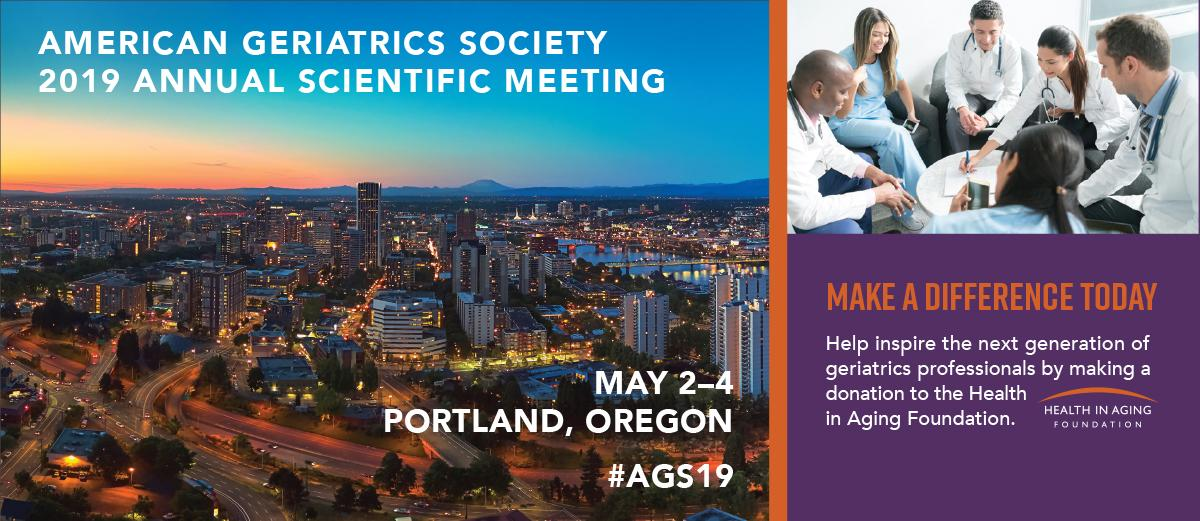 The AGS 2019 Annual Scientific Meeting